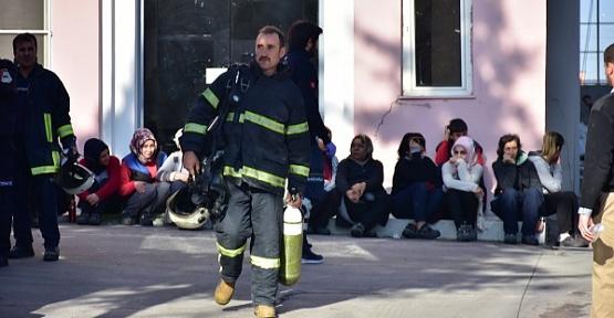 Yangına Müdahale Eden İşçiler Hastanelik Oldu