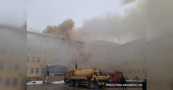 Kahramanmaraş'ta Okulda Yangın Çıktı
