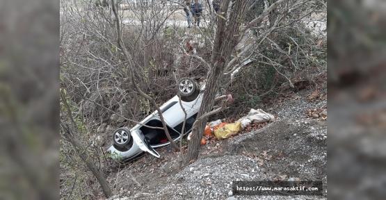 Otomobil Devrildi 2 Yaralı