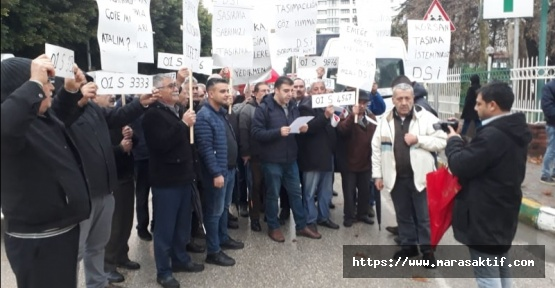 Servisçiler de Protesto Etti