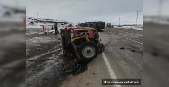 Traktörle Otomobil Çarpıştı 2 Yaralı
