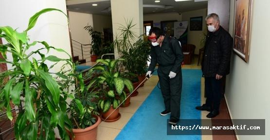 KSÜ'de Dezenfekte Çalışmalarına Devam
