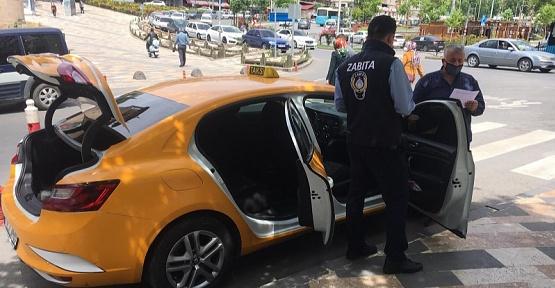 Ticari Taksiler Denetleniyor