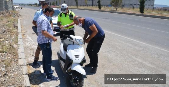 Çalıntı Motosikletle Kaçarken Yakalandı