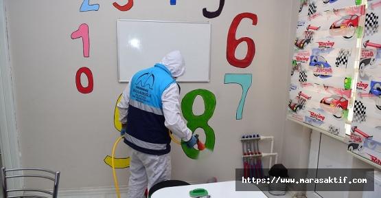 Dulkadiroğlu'nda Dezenfekte Çalışmaları Sürüyor