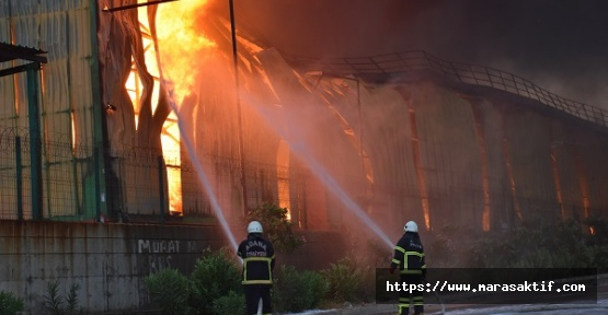 Nişasta Fabrikasında Yangın