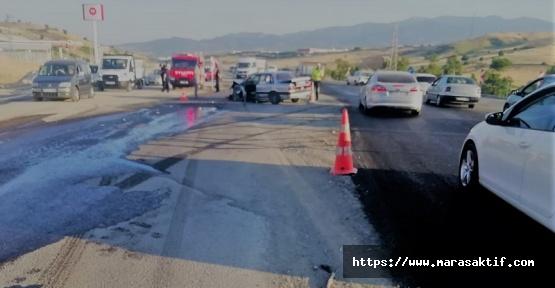 Tır İle Otomobil Çarpıştı 5 Yaralı