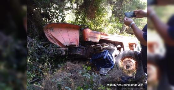 Traktör Uçuruma Yuvarlandı 5 Yaralı