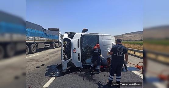 Kahramanmaraş'ta Minibüs Devrildi 1 Ölü 1 Yaralı