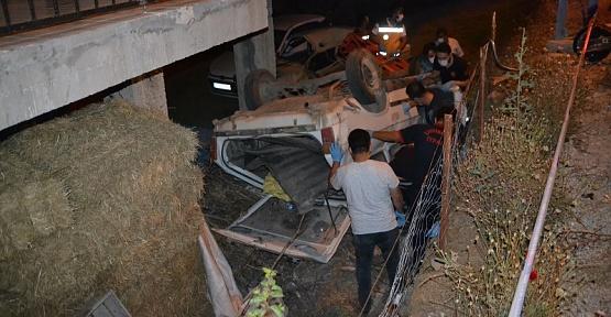 Otomobil Bahçeye Devrildi Sürücü Öldü