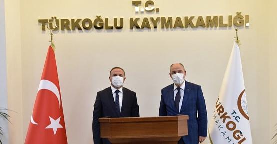 Vali Türkoğlu İlçesini Ziyaret Etti