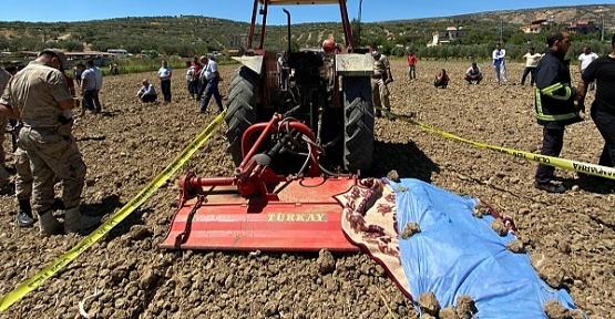 Çapa Makinesine Sıkışan Çiftçi Öldü