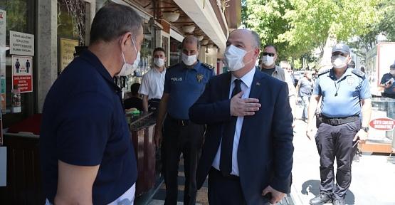 Kahramanmaraş'ta Kovid-19 Tedbirleri Denetimi Yapıldı