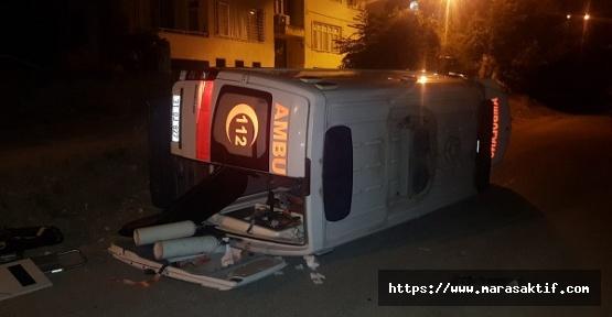 Ambulans Devrildi 3 Yaralı