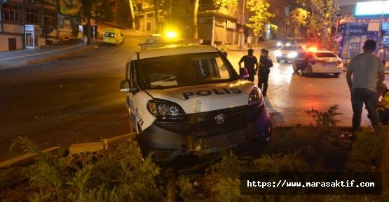 Suçlu Kovalayan Polis Kaza Yaptı 2 Yaralı