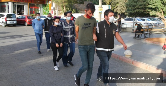 Kahramanmaraş'ta Gaspçılar Tutuklandı