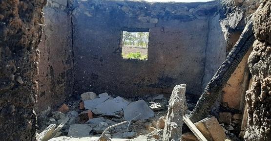 Elbistan'da Ahırda Yangın Çıktı