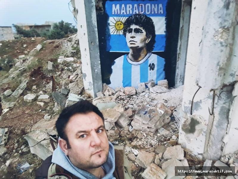 Harabe Duvarında Maradona Resmi
