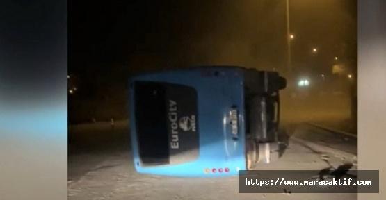 Kahramanmaraş'ta 4 Çocuk Midibüs Çaldı Kaza Yaptı
