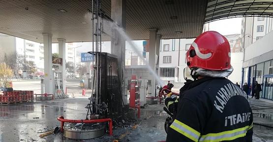 Akaryakıt İstasyonunda Yangın Çıktı