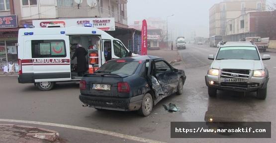 Kahramanmaraş'ta Trafik Kazası 2 Yaralı