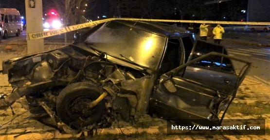 Kahramanmaraş'ta Çarpışan Otomobiller Paramparça Oldu
