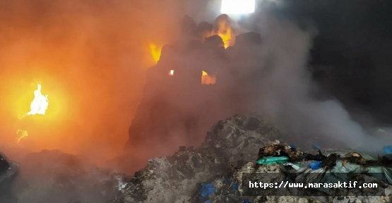 Kahramanmaraş'ta Depoda Yangın Çıktı