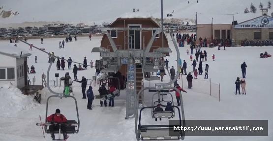 Yedikuyular Kayak Merkezi Şenlendi