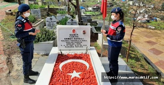 Jandarma Şehit Mezarlarını Temizledi