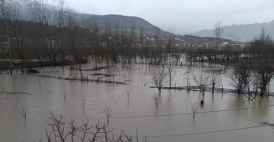 Kahramanmaraş'ta Tarım Arazilerini Sel Vurdu