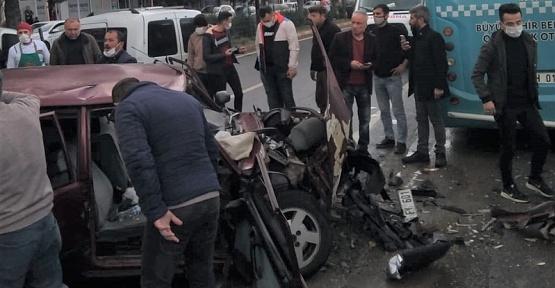 Kahramanmaraş'ta Trafik Kazası 1 Ağır 3 Yaralı