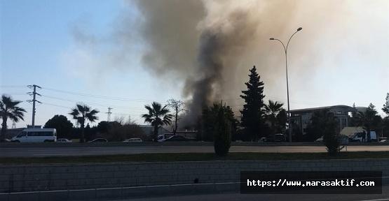 Kahramanmaraş'ta Kumaş Fabrikasında Yangın