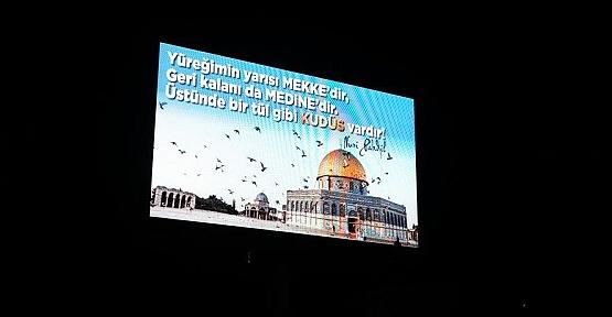 Kahramanmaraş Led Ekranlarında Filistin'e Destek