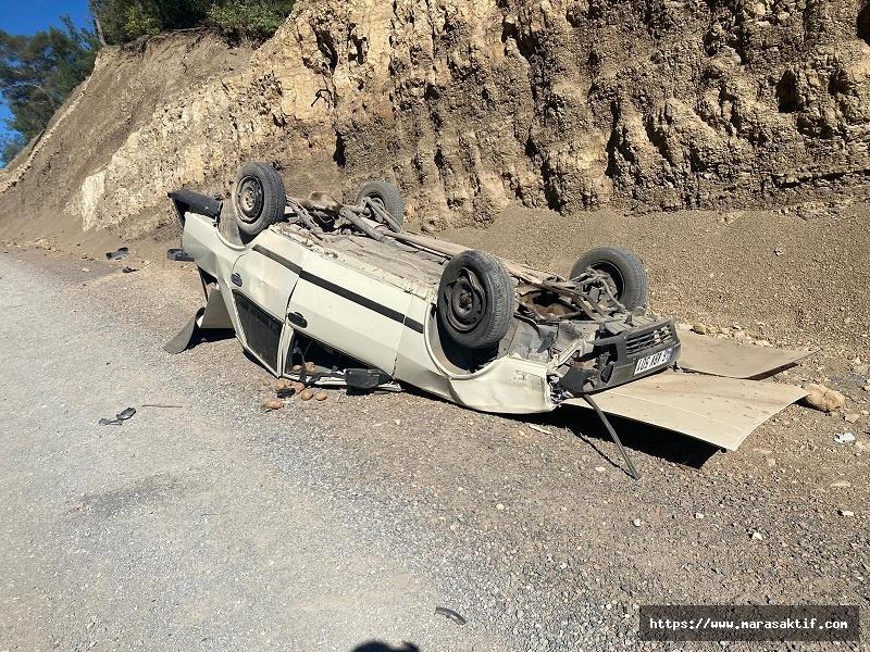 Kahramanmaraş'ta Otomobil Takla Attı 4 Yaralı