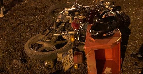 Taşlara Çarpan Sürücü Yaralandı