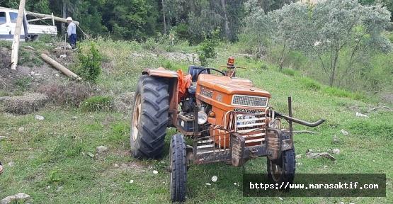 Traktör Elektrik Direğine Çarptı