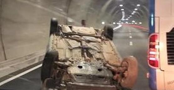 Tünellerde Kaza 3 Yaralı