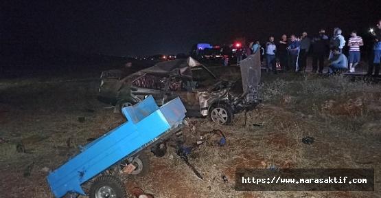 Kahramanmaraş'ta Kaza 3 Ölü 2 Yaralı