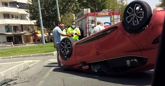 Otomobil Takla Attı 3 Yaralı