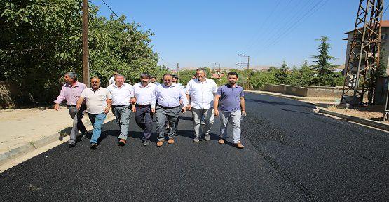 Afşin Belediyesi Asfalt Seriyor