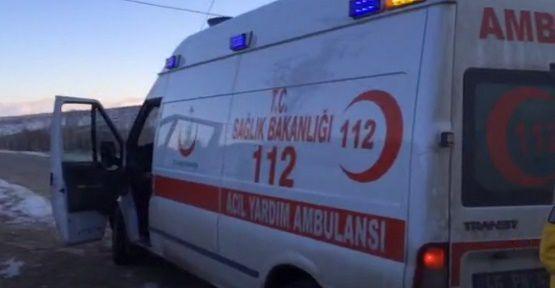 Ambulans ve Hasta Mahsur Kaldı