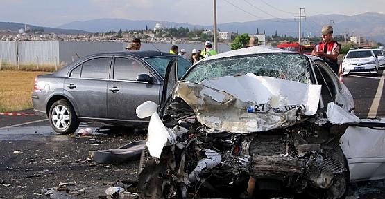 Kahramanmaraş'ta Kaza 1 Ölü 5 Yaralı
