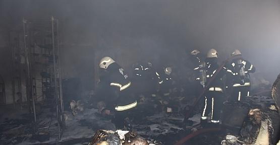 Kahramanmaraş'ta Atölyede Yangın Çıktı