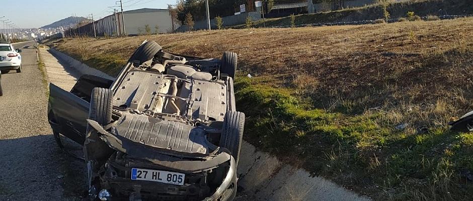 Otomobil Takla Attı 6 Yaralı
