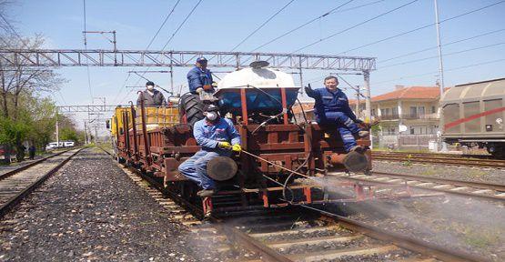 Demiryolunda İlaçlama Yapılacak