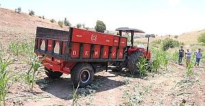 Traktörden Atladılar 1 Ölü 1 Yaralı