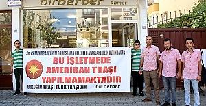 Kahramanmaraş'ta Amerikan Traşına Yaptırım