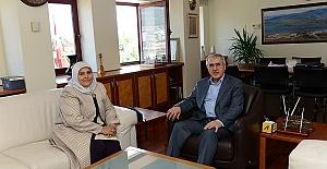 Öçal'dan Rektöre Ziyaret