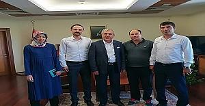 Rektör, Türkiye Sağlık-İş'i Ağırladı