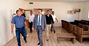 Başkan Akçakoyunlu Taziye Evini İnceledi